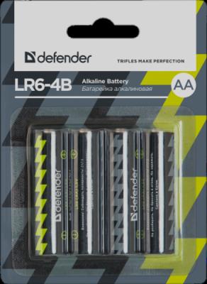 Акция!!! Батарейка алкалиновая LR6-4B AA, в блистере 4 шт