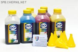 Чернила OCP для принтера HP Photosmart C5183, C6283, D7363 (BK 90, C 93, M 93, Y 93, CL 94, ML 94), картридж HP 177, комплект 500 гр. x 6