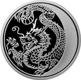 3 рубля 2012 г. Дракон