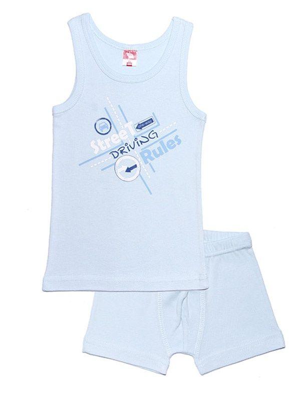 Комплект нижнего белья (майка и трусы) для мальчика.