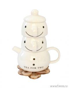 """Подарок """"Счастливы вместе"""" чайный сервиз на 2 персоны"""