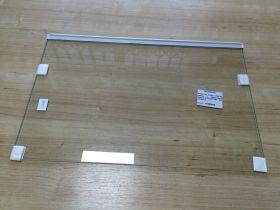 Полка х-ка Атлант СТЕКЛО нижняя с обрамлением спереди (371320307100)  51,7 см*34,3 см