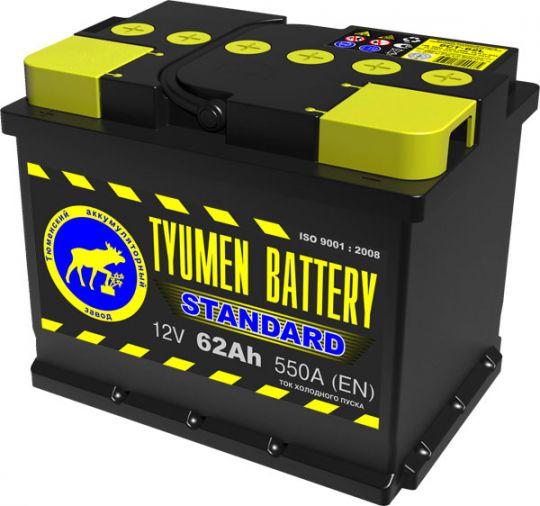 Автомобильный аккумулятор АКБ Тюмень (TYUMEN BATTERY) STANDARD 6CT-62L 62Aч О.П.
