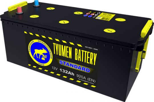 Автомобильный аккумулятор АКБ Тюмень (TYUMEN BATTERY) STANDARD  6CT-132L 132Aч О.П. (3) (евро)