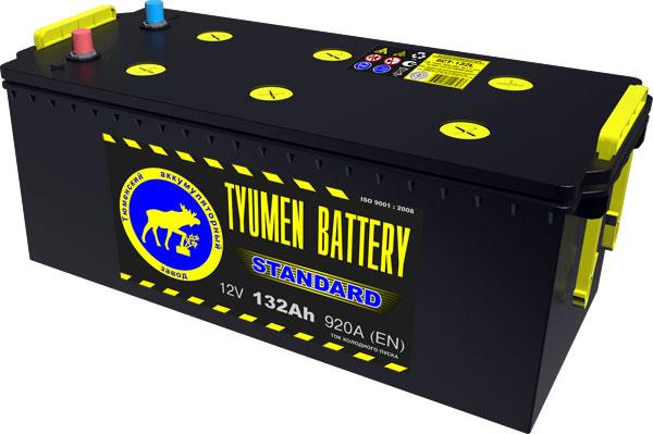 Автомобильный аккумулятор АКБ Тюмень (TYUMEN BATTERY) STANDARD  6CT-132L 132Aч О.П. (3) (евро) (сухозаряженный)