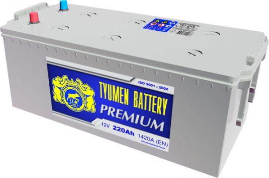 Автомобильный аккумулятор АКБ Тюмень (TYUMEN BATTERY) PREMIUM 6CT-220L 220Aч О.П. (3) (евро)