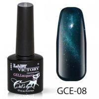 Гель-лак GCE-08 «Кошачий глаз» Lady Victory 7,3 мл.