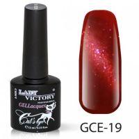 Гель-лак GCE-19 «Кошачий глаз» Lady Victory 7,3 мл.