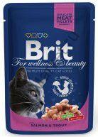 Консервы для кошек Brit Premium Pouch Salmon & Trout Лосось и форель 100 г