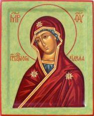 Огневидная икона Божией Матери (рукописная)
