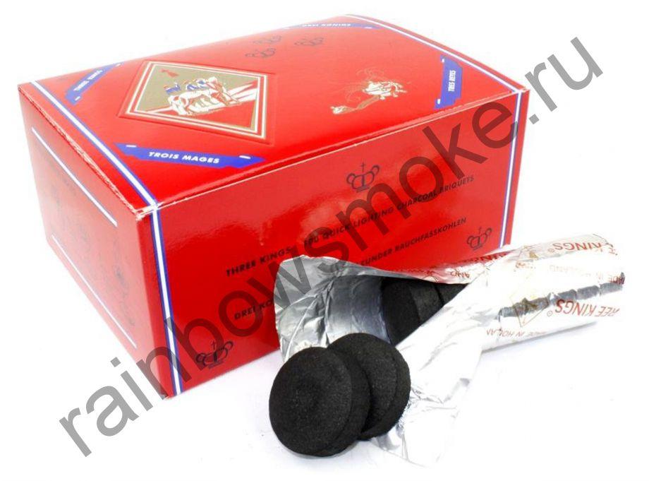 Уголь для кальяна Three Kings 33 мм (Коробка)