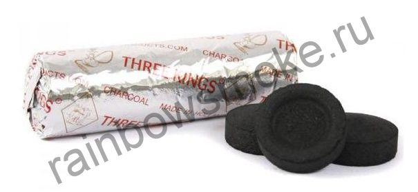 Уголь для кальяна Three Kings 40 мм (Туба)