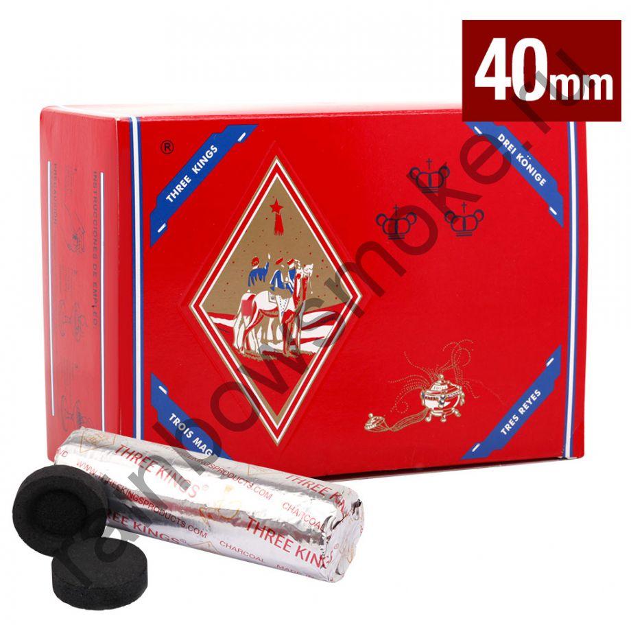Уголь для кальяна Three Kings 40 мм (Коробка)