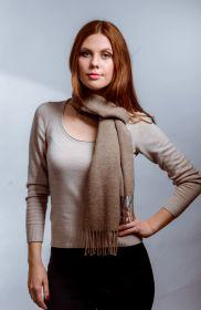 шарф 100% шерсть ягнёнка , Классический пшеничный цвет,  ,плотность 6.