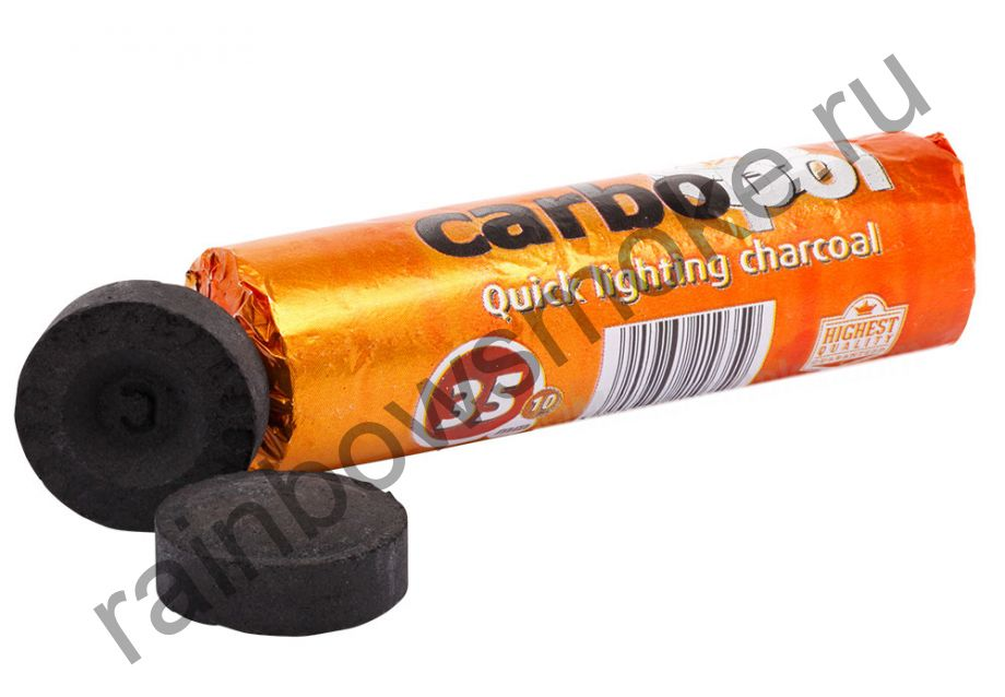 Уголь для кальяна Carbopol 35 мм (Туба)