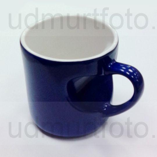 Кружка ХАМЕЛЕОН синяя с ручкой и корпусом в виде СЕРДЦА .Цена за кружку с Вашим изображением