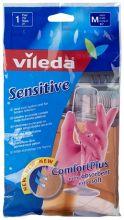 """Vileda перчатки """"Sensitive"""" для деликатных работ, размер M, 1 пара"""