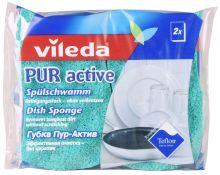 "Vileda губка ""PUR Active"" для посуды, 2 шт"