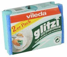 """Vileda губка """"Glitzi"""" для посуды, 2 шт"""