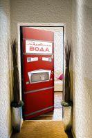 Наклейка на дверь - Газированная вода. АТ-114 | магазин Интерьерные наклейки