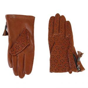 Перчатки женские 02104115350_12; кожа; коньяк (Размер 8)
