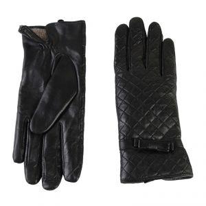 Перчатки женские 02104715351_01; кожа; черный (Размер 8)