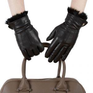 Перчатки женские 29К_40022_10_1309П; кожа; черный (Размер 7)