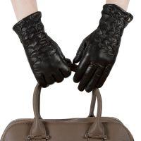 Перчатки женские 29К_40043_12/10_1309П; кожа; черный (Размер 7,5)