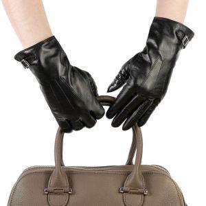 Перчатки женские 27К_40015_10_1309П; кожа; черный (Размер 7)