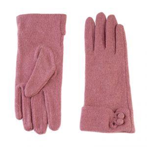 Перчатки женские 02109115225_23; шерсть/акрил; коралловый (Размер M)
