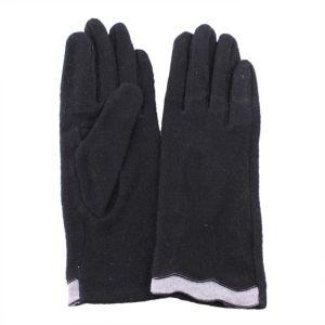 Перчатки женские 27_111_127_1109; шерсть; черный (Размер M)