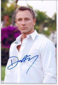 Автограф: Дэниэл Крэйг