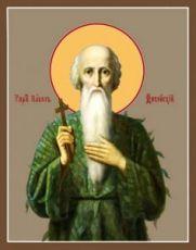 Икона Павел Фивейский (рукописная)