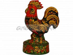 Сувенир игрушка «Петушок» VIP подарок ручной работы Хохлома