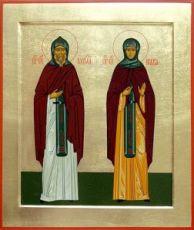 Икона Кирилл и Мария Радонежские (рукописная)