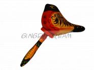 Погремушка «Соловушка» Расписная игрушка-сувенир Хохлома