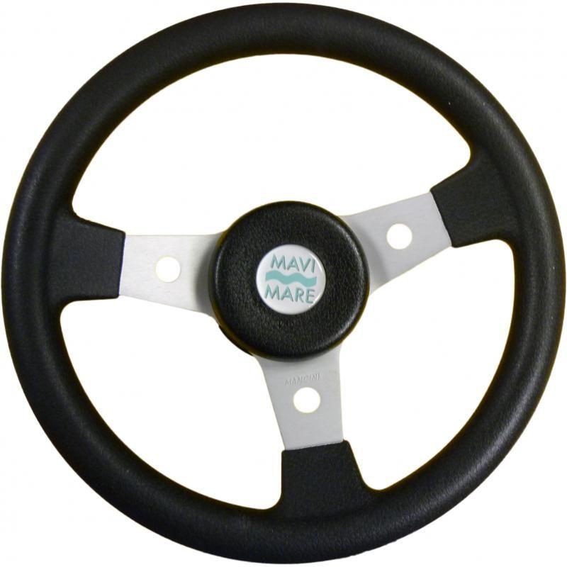 Руль (рулевое колесо, штурвал) Delfino 310 диаметром 310 мм. черного цвета
