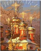 """Раскраска по номерам """"Золотые купола"""""""