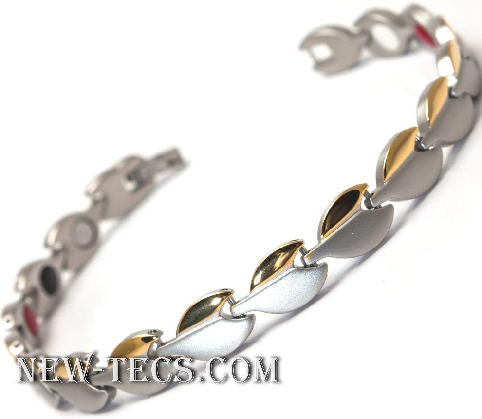 Женский титановый браслет с турмалином