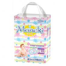 Maneki Подгузники детские одноразовые Fantasy Мини, размер L, 9-14 кг, 22 шт./упак