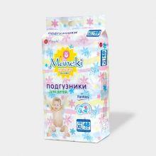 Maneki Подгузники детские одноразовые, серия Fantasy, размер XL, >12 кг, 48 шт./упаковка
