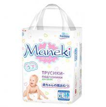 Maneki Подгузники-трусики детские одноразовые Fantasy Мини, размер XL, >12 кг, 18 шт./упак