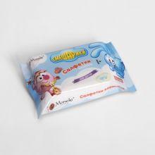 Maneki Салфетки влажные, ТМ Смешарики, детские, с экстрактом ромашки и алоэ вера, 25 шт./упаковка