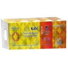 """Maneki туалетная бумага """"Kabi"""" 3 слоя, 280 листов, 39.2 метра, гладкая, с ароматом ромашки, тон белая, 10 рулонов"""