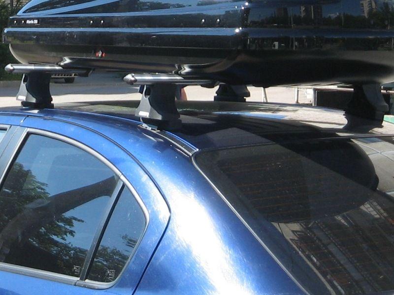 Багажник на крышу Suzuki SX4 sedan/hatchback 2007-13, Атлант, аэродинамические дуги