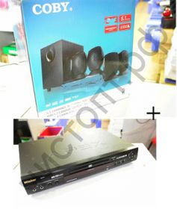 Актив.колонки 5.1 Сoby dvd 760 компл акуст + DVD плеер APEX AD-7701 мощн 45 W домашний кинотеатр