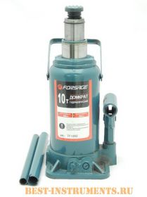 TF1002 Домкрат бутылочный Forsage, с двумя штоками, 10т (h min 225мм, h max 560мм)
