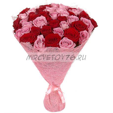 "Букет ""51 красно-розовая роза"""