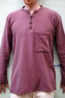Коричневая мужская рубашка из органического хлопка, Индия
