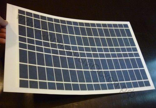 Солнечная панель 20 Ватт 12 вольт (гибкая)